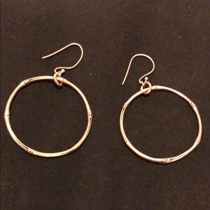 Silver Bamboo John Hardy Hoop Earrings